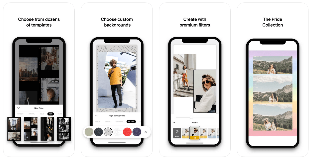 Examples of Instagram post templates made with Made