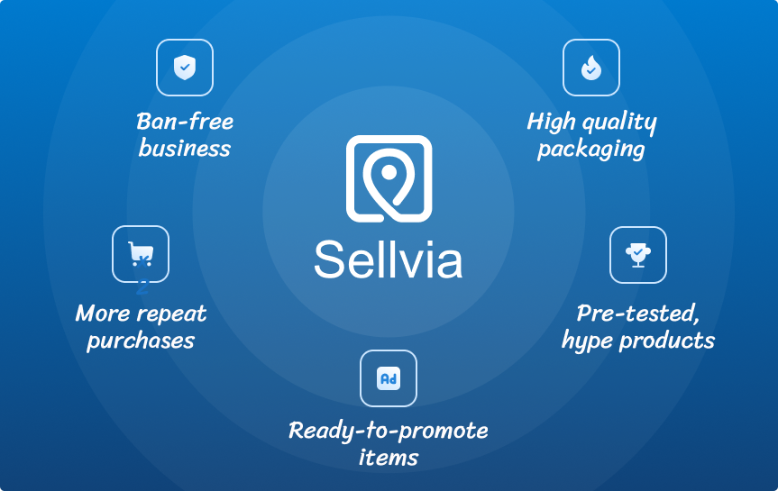 Benefits of Sellvia as an online business supplier