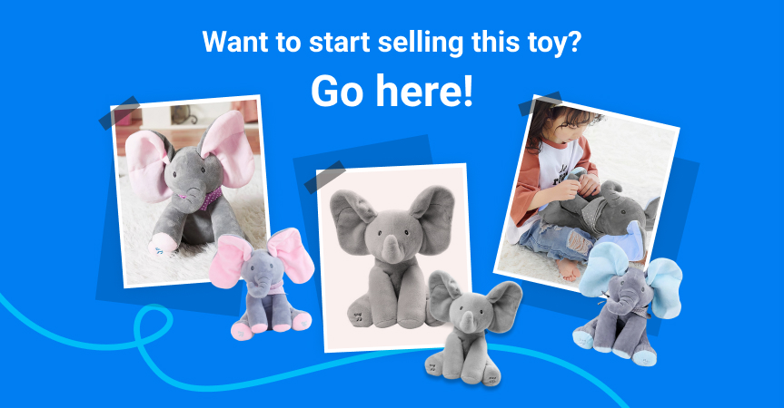 Start selling one of this week's best dropshipping products: peek-a-boo elephant toy
