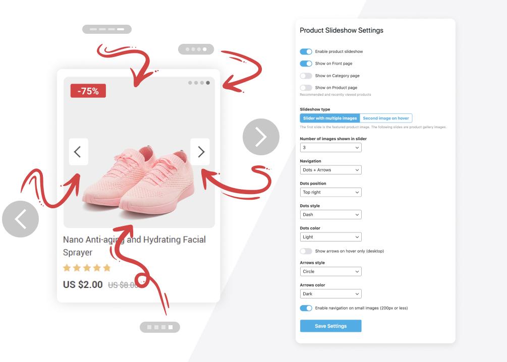 Product Slideshow addon settings
