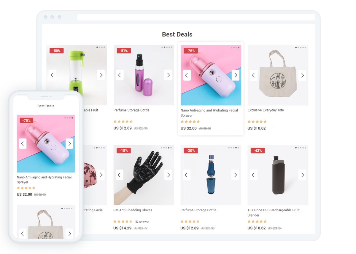 Interactive shopping experience with Product Slideshow addon