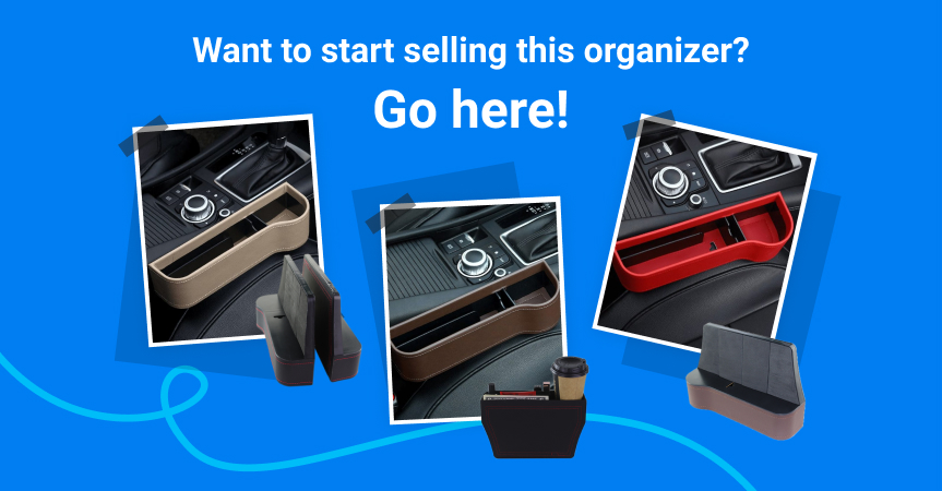 Start selling this multifunctional car organizer with Sellvia