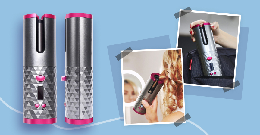 Meet an auto ceramic hair curler, one of the best dropshipping products to sell this week