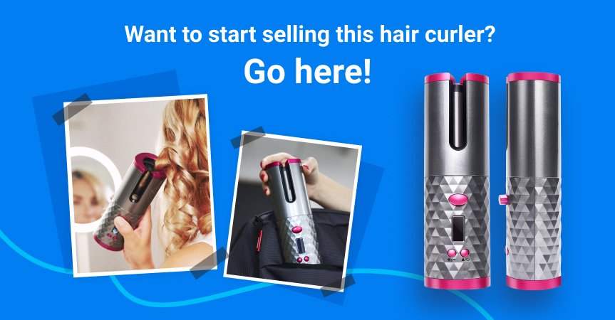 Start selling this auto ceramic hair curler, one of the best dropshipping products to sell this week