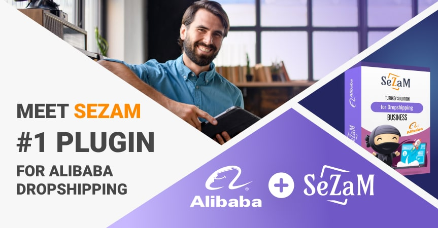 a cover of the article on Alibaba dropshipping with Sezam plugin