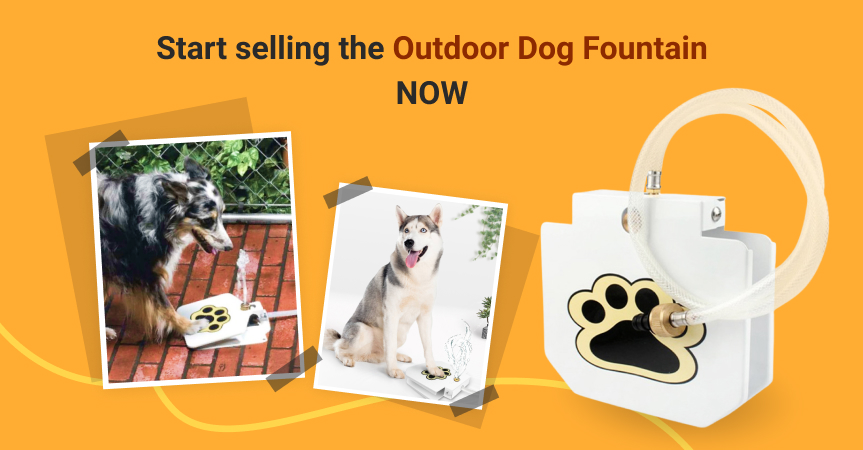 Start selling the outdoor dog fountain, one of the best dropshipping products to start offering this week
