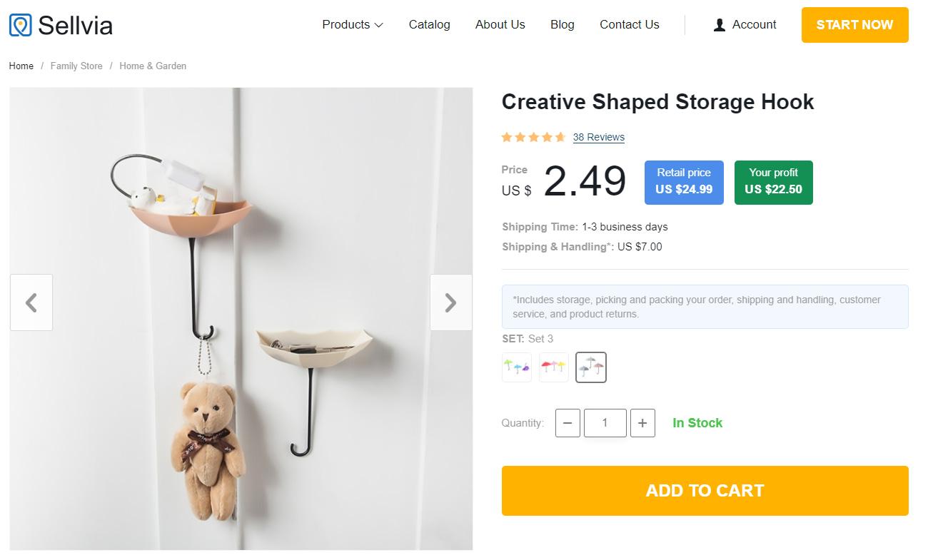 Creative Shaped Storage Hook - popular home organization product