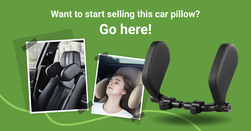 Go here to start selling this car seat headrest pillow