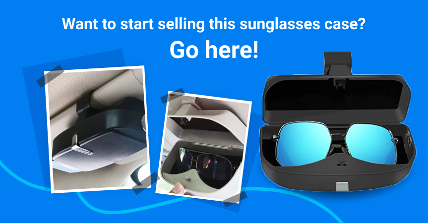Go here to start selling this magnetic car sunglasses case, one of the best dropshipping products to offer this week