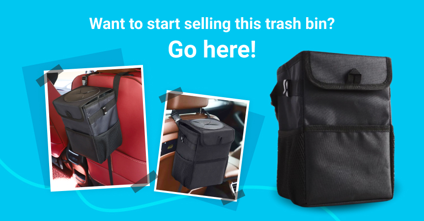 Go here to start selling this waterproof car trash bin from Sellvia