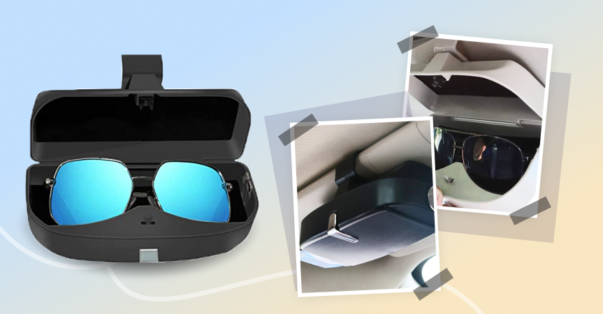 Magnetic car sunglasses case, one of the best dropshipping products to start selling this week