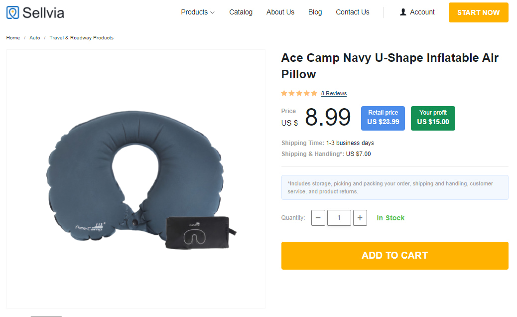 How to dropship car accessories: U-shaped neck pillow for driving
