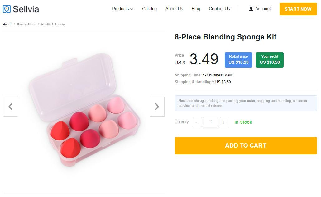 Blending sponge kit containing 8 egg-shaped sponges