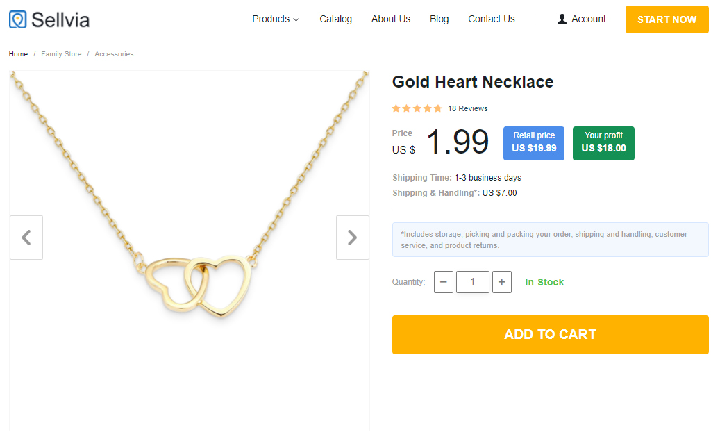 A golden necklace featuring two hearts bound together