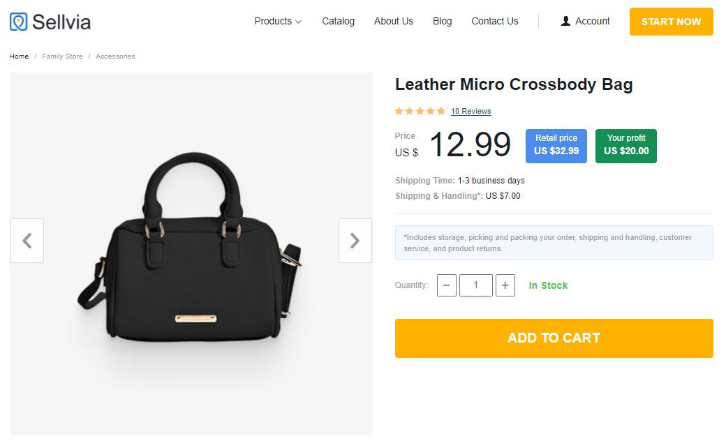 A black crossbody bag - a popular accessory