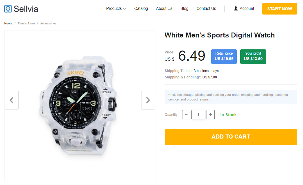 White sports wristwatch as an example of fashion accessories