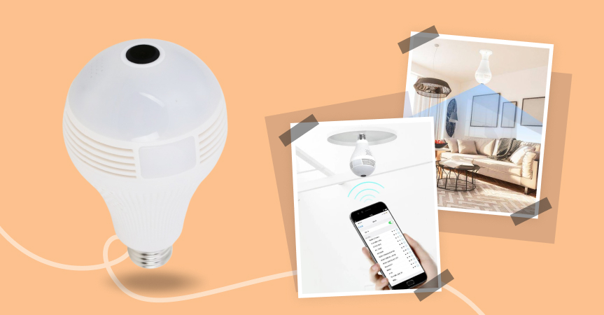 Meet panoramic security bulb camera, one of the best dropshipping products to sell now