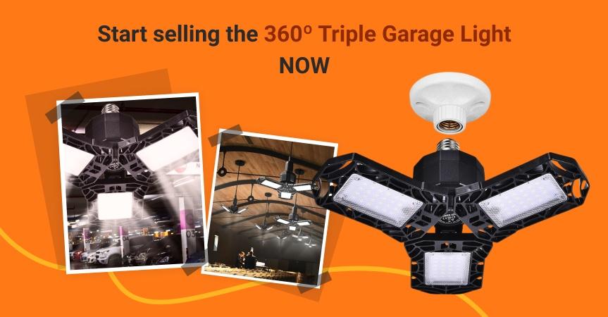 Start selling this triple garage light now